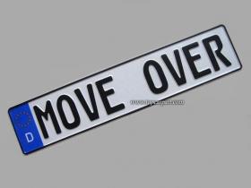 Немецкий номерной знак MOVE OVER